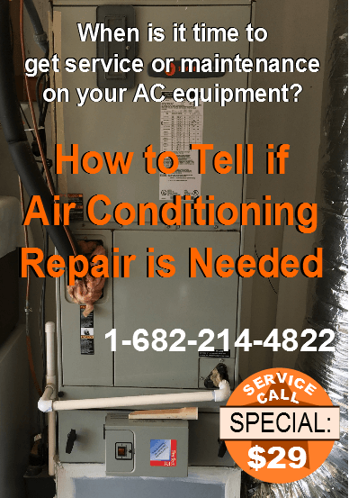 Fort Worth Air Conditioning How to Tell if Air Conditioning Repair is Needed Graphic