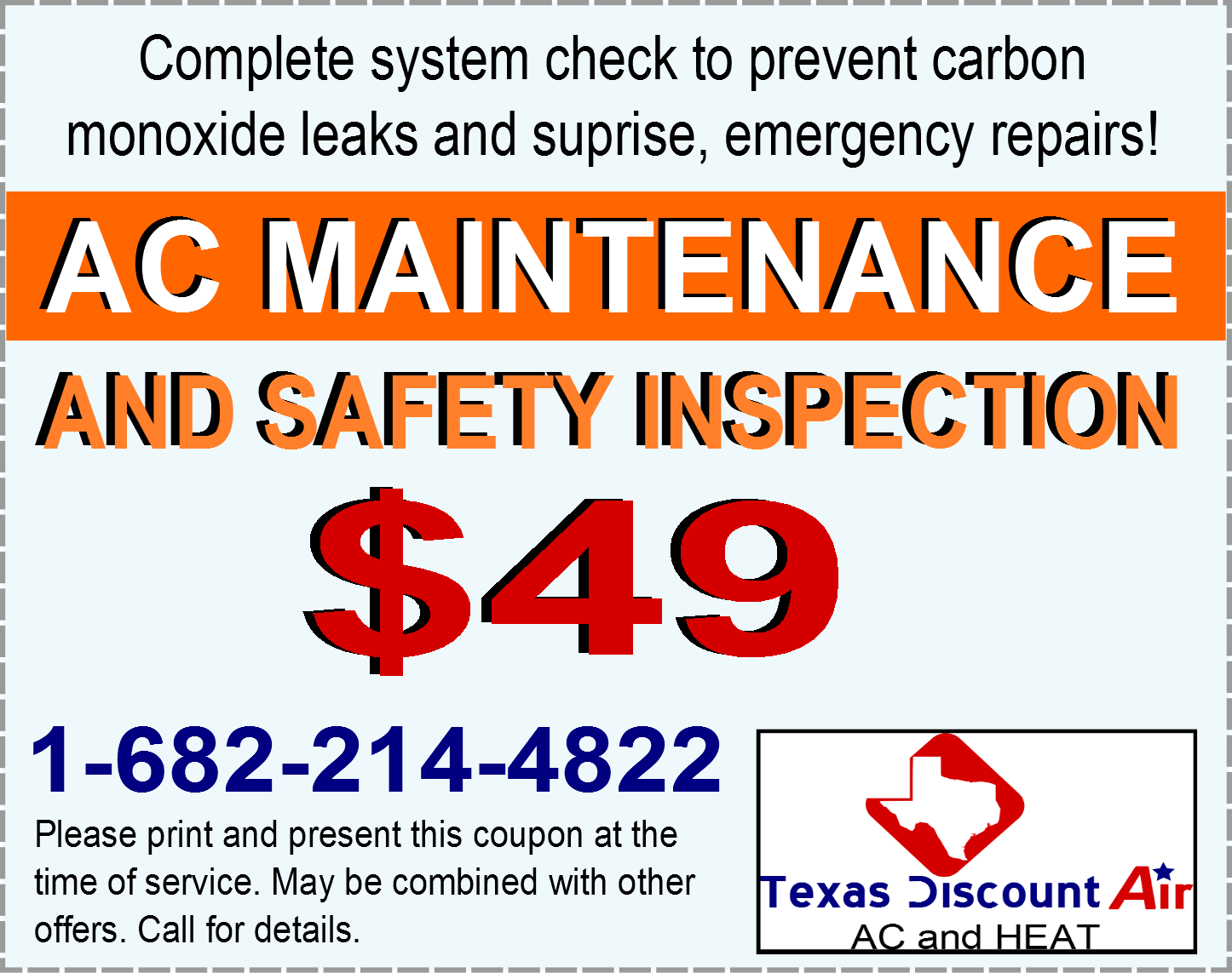 A/C Repair Fort Worth $49 Air Conditioner Maintenance Coupon